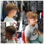 Haarschnitt für Jungen. Junge mit etwas längeren Haaren