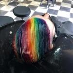 Regenbogen Haare.